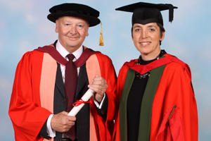 Prof Ricketts with Professor Jo Price, who presented his degree