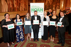 Highest scoring NCAH Winners of 2011. [L-R] Elizabeth Rawlings, Elizabeth Rapkin, Issy Gray, Jonathan Bell, Clare Turnbull, Gemma Nimmo and Colin Henry.