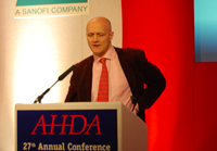 Mr Green speaking at last year's Animal Health Distributors Association conference.