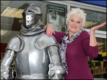 Wellington store manager Judy Mound with armour