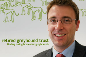 Peter Laurie, chief executive of the Retired Greyhound Trust