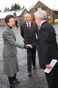 The Princess is introduced to Sir O'Shea by Robert Clerk, vice lord lieutenant of Midlothian.