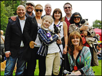 Pup Aid 2010: Meg Mathews (third from left), Annabel Giles (front right) and fellow judges. Image courtesy Julia Claxton.
