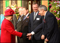 Her Majesty meets AHT staff