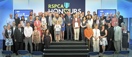 Winners and guests at the 2011 RSPCA Honours ceremony.