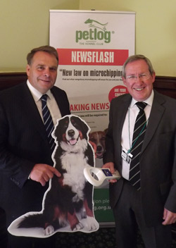 Steve Dean (right) with Neil Parish MP, who hosted the debate on The Kennel Club's behalf.