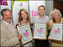 [L-R] FAB commercial coordinator Ross Tiffin, Virbac's national  business manager Rachel Crowe, Novartic brand manager Ricardo Garvao and  FAB chief executive Claire Bessant.