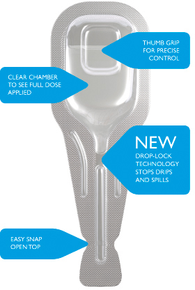 Virbac's new Effipro pipette featuring 'Drop-lock' technology