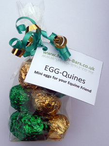 EGG-Quines from natural treat company, Neigh-Bars.