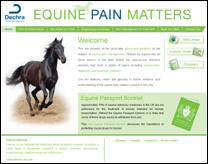The site contains up-to-date advice and guidance on equine pain management