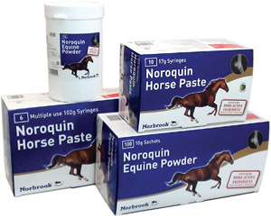 The full Noroquin equine range