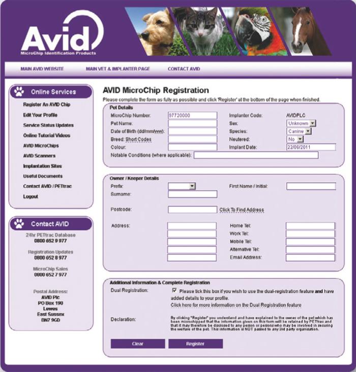 Microchip registration: quick, simple, guaranteed!
